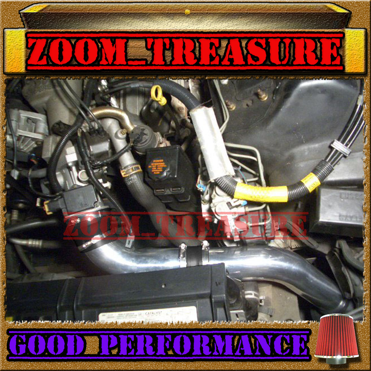 Gm Performance Air Intake Elbow Rubber Black Chevy Small: BLACK RED 1995-1997 CHEVY CAMARO/PONTIAC FIREBIRD V6 FULL