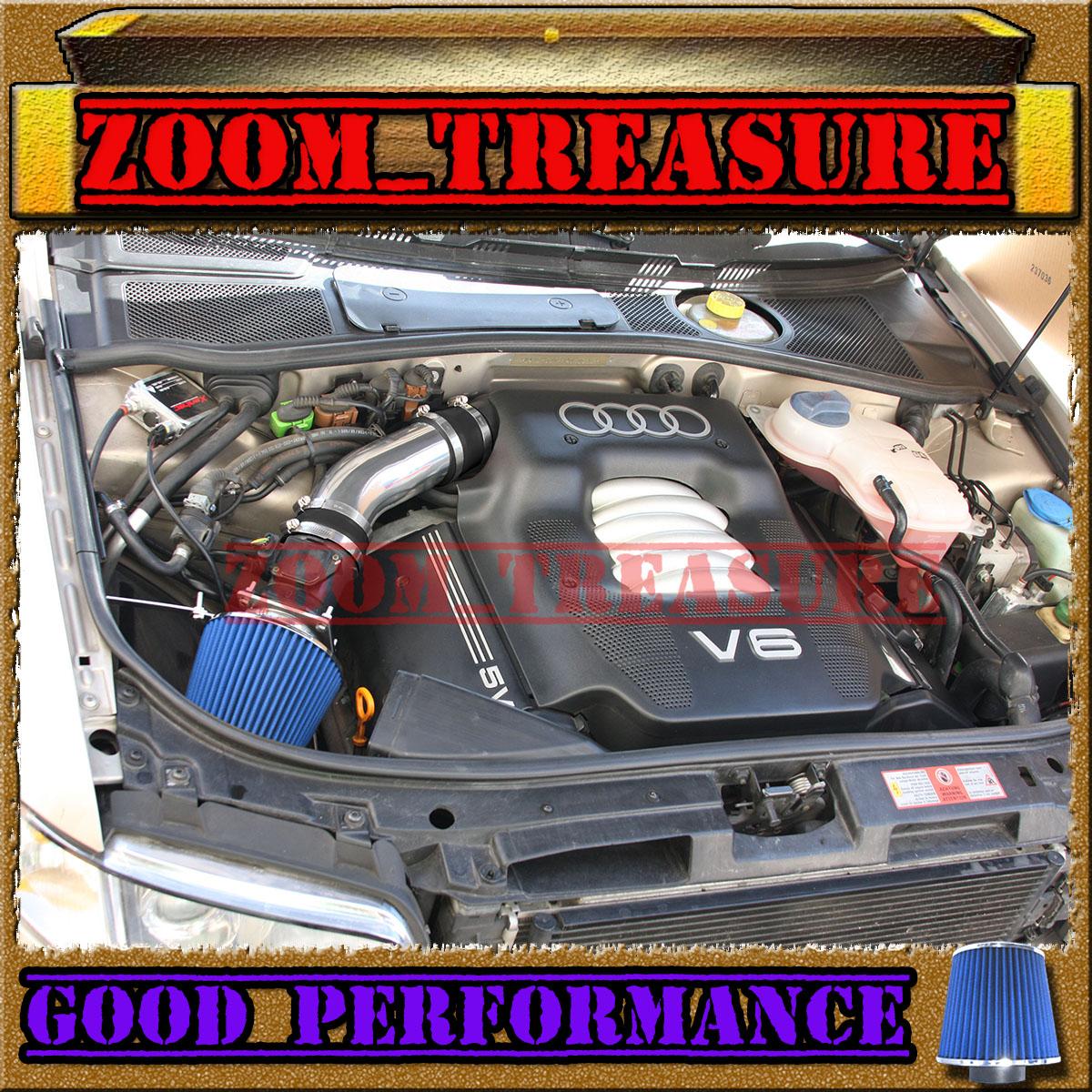 98 99 00 01 02 03 04 05 VW PASSAT GL GLS GLX 2.8L V6 AIR INTAKE KIT Black Red
