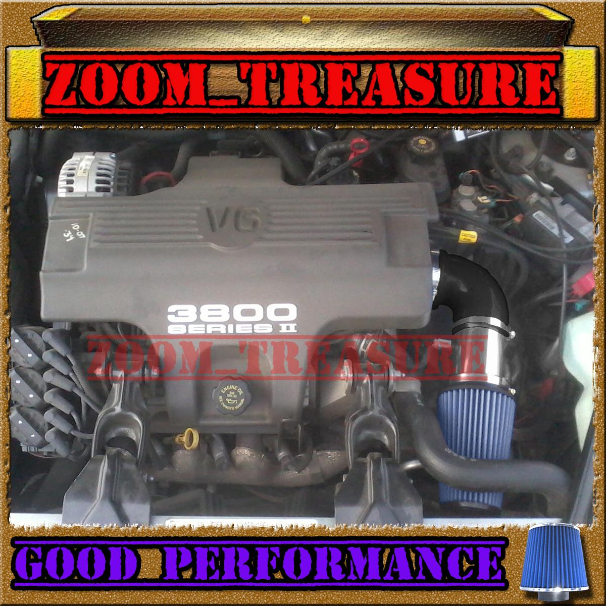 Filter Black Blue For 1997-2005 Buick Regal 3.8L V6 Air Intake System Kit