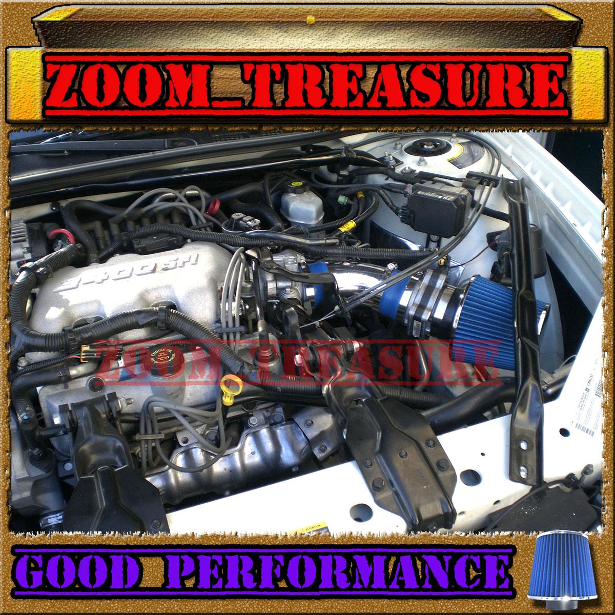 BLACK RED 2000-2005//00-05 BUICK LESABRE LE SABRE 3.8L V6 AIR INTAKE KIT