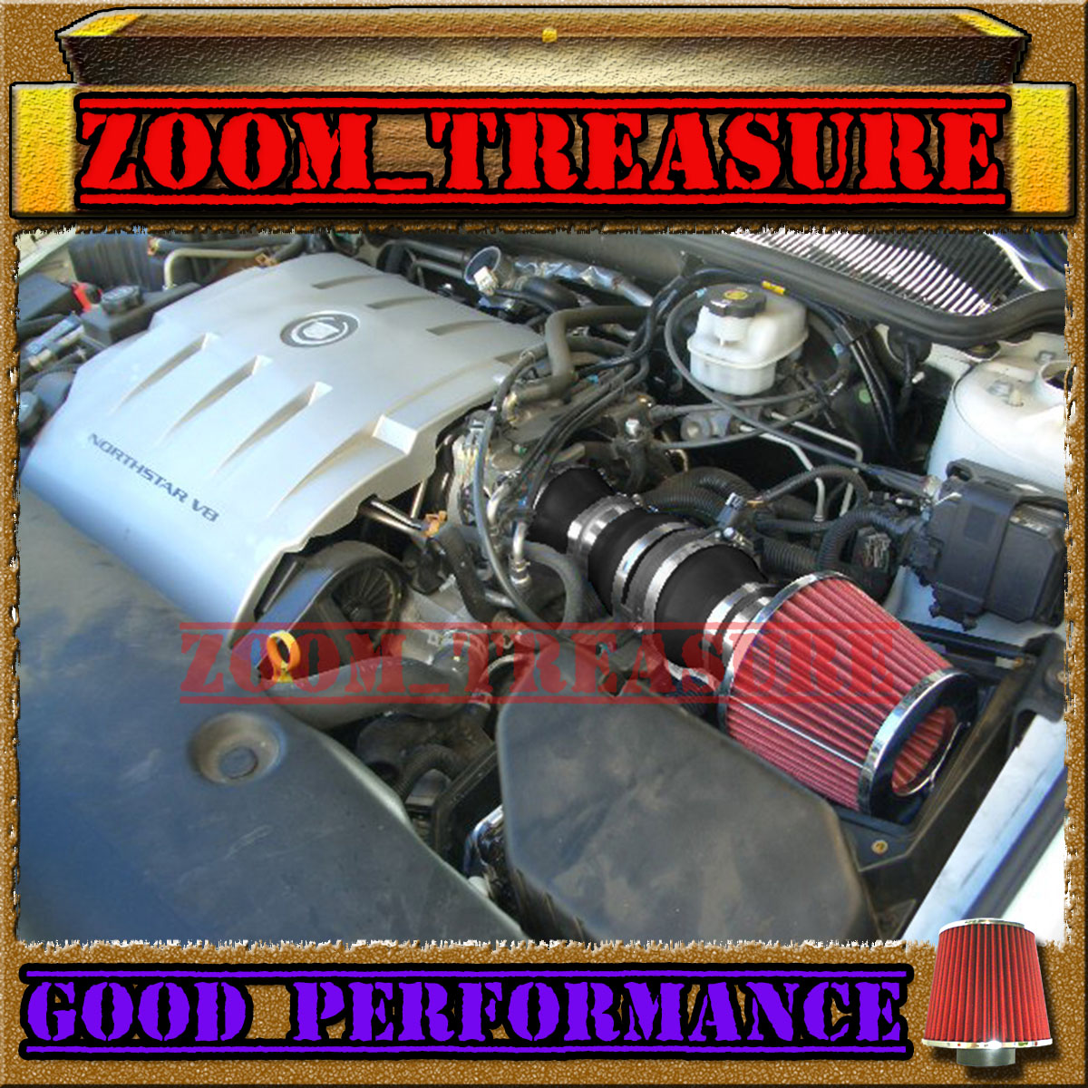 Black Red 2004 2005 Cadillac Deville All Models With 4 6 4 6l V8 Air