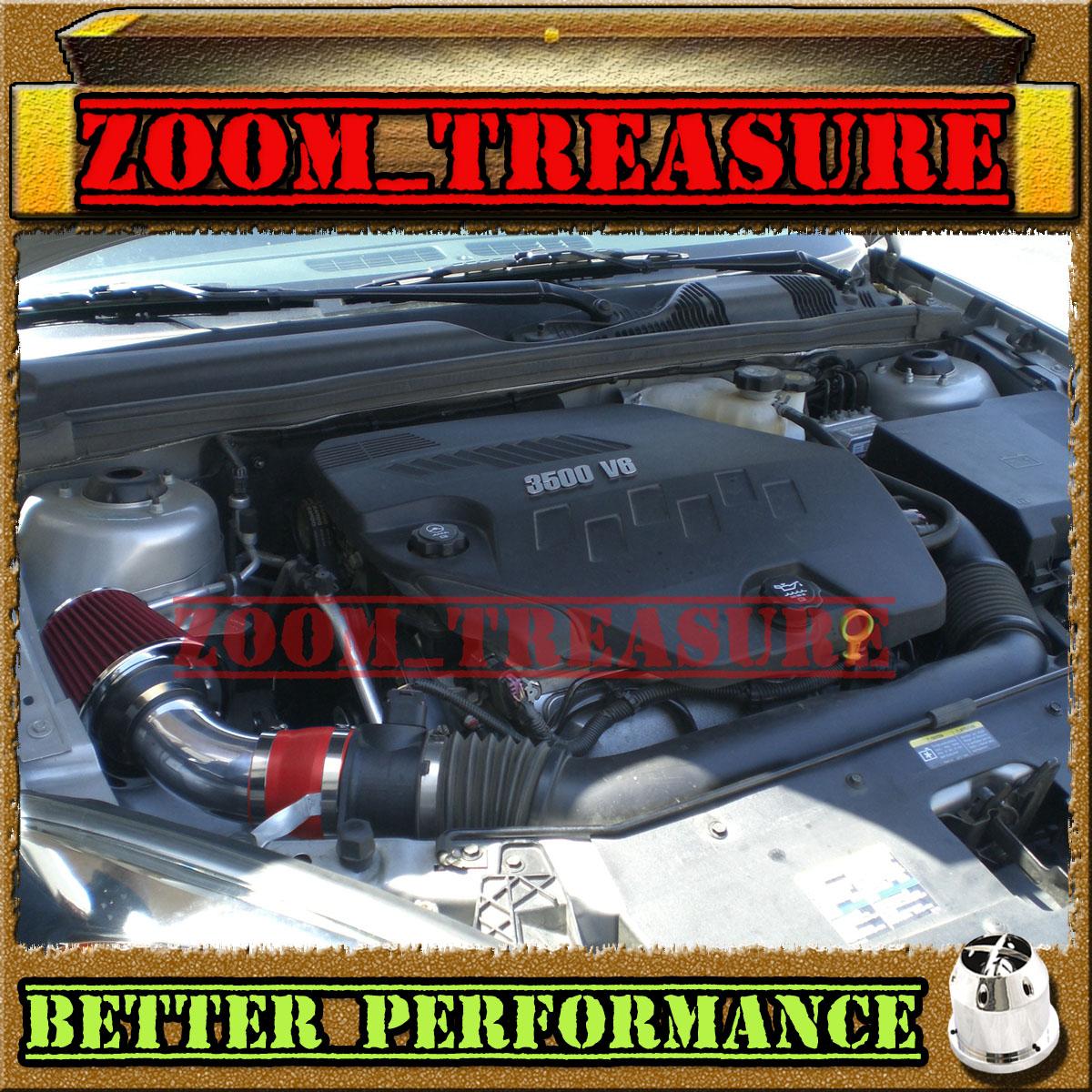 RED CHF 2004-2010//04-10 CHEVY MALIBU//PONTIAC G6 3.5 3.5L V6 AIR INTAKE KIT