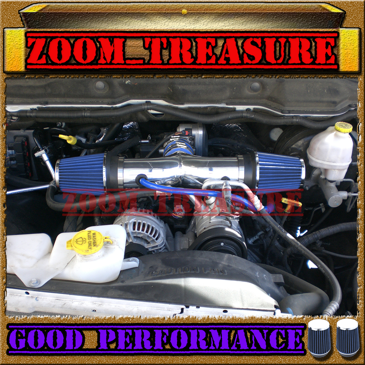 BLUE 2004-2012//04-12 JEEP LIBERTY ALL 3.7 3.7L V6 AIR INTAKE KIT