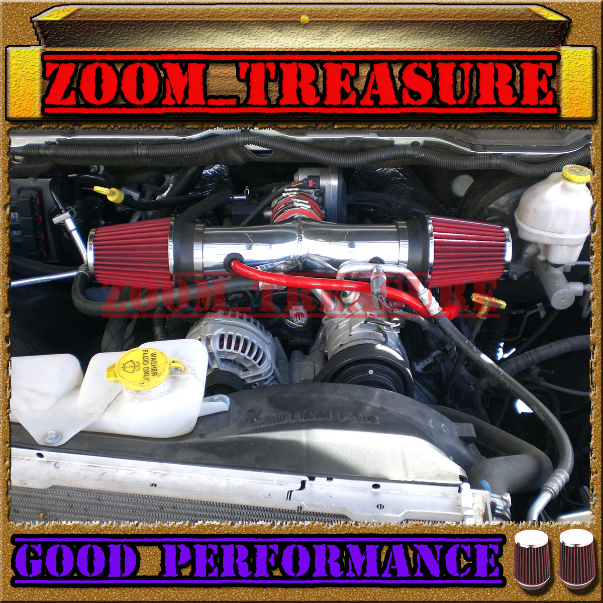RED CHF 2002-2007//02-07 DODGE RAM 1500 3.7L V6 FULL COLD AIR INTAKE KIT STAGE 3