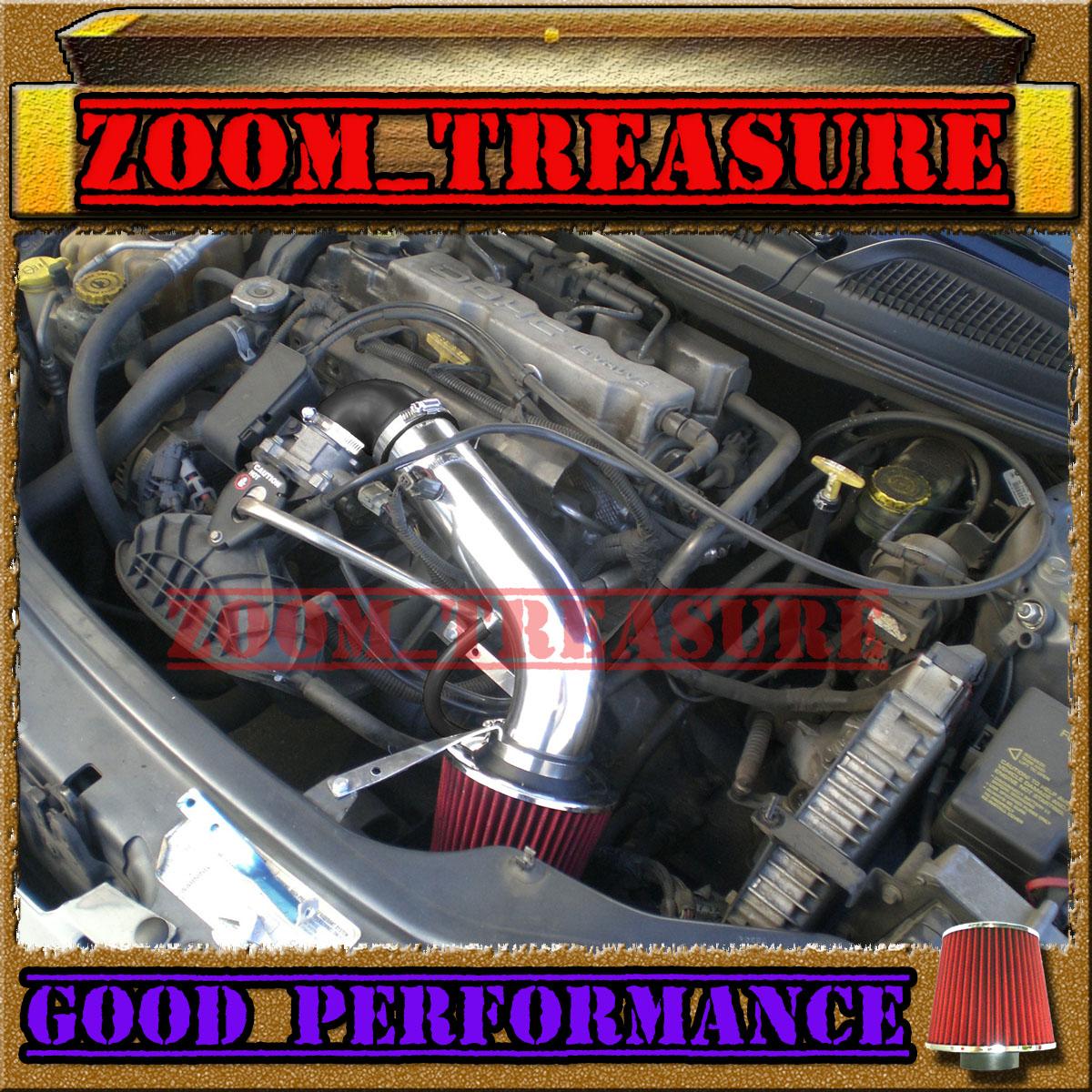 Cf Black Red 01 05 Chrysler Sebring Dodge Stratus 2 4l I4 3 0l V6 Air Intake Kit