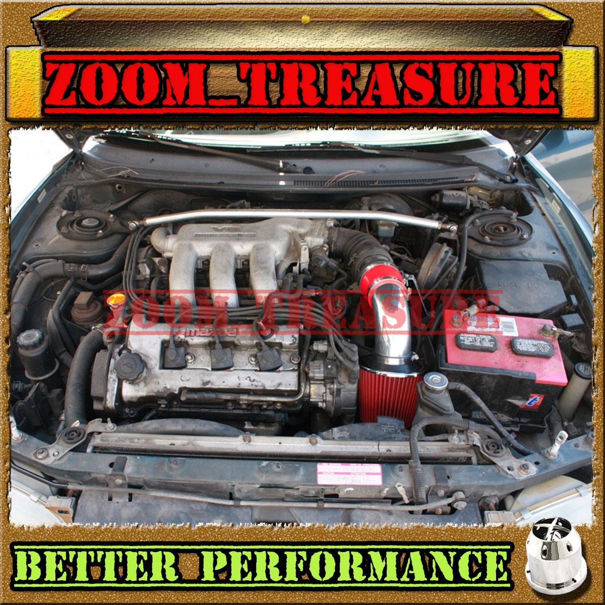 RED CHF 1993-1997//93-97 FORD PROBE GT//MAZDA MX6//626 2.5L V6 COLD AIR INTAKE KIT