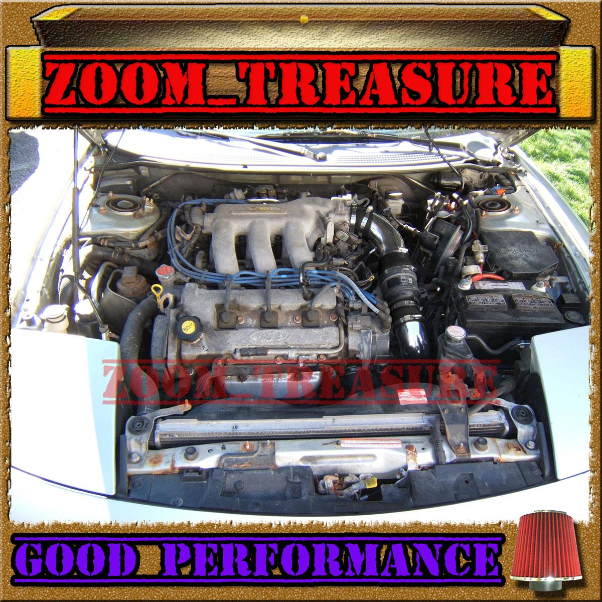 626 2.5L V6 Black Blue Cold Air Intake Kit For 1993-97 Ford Probe Mazda MX6