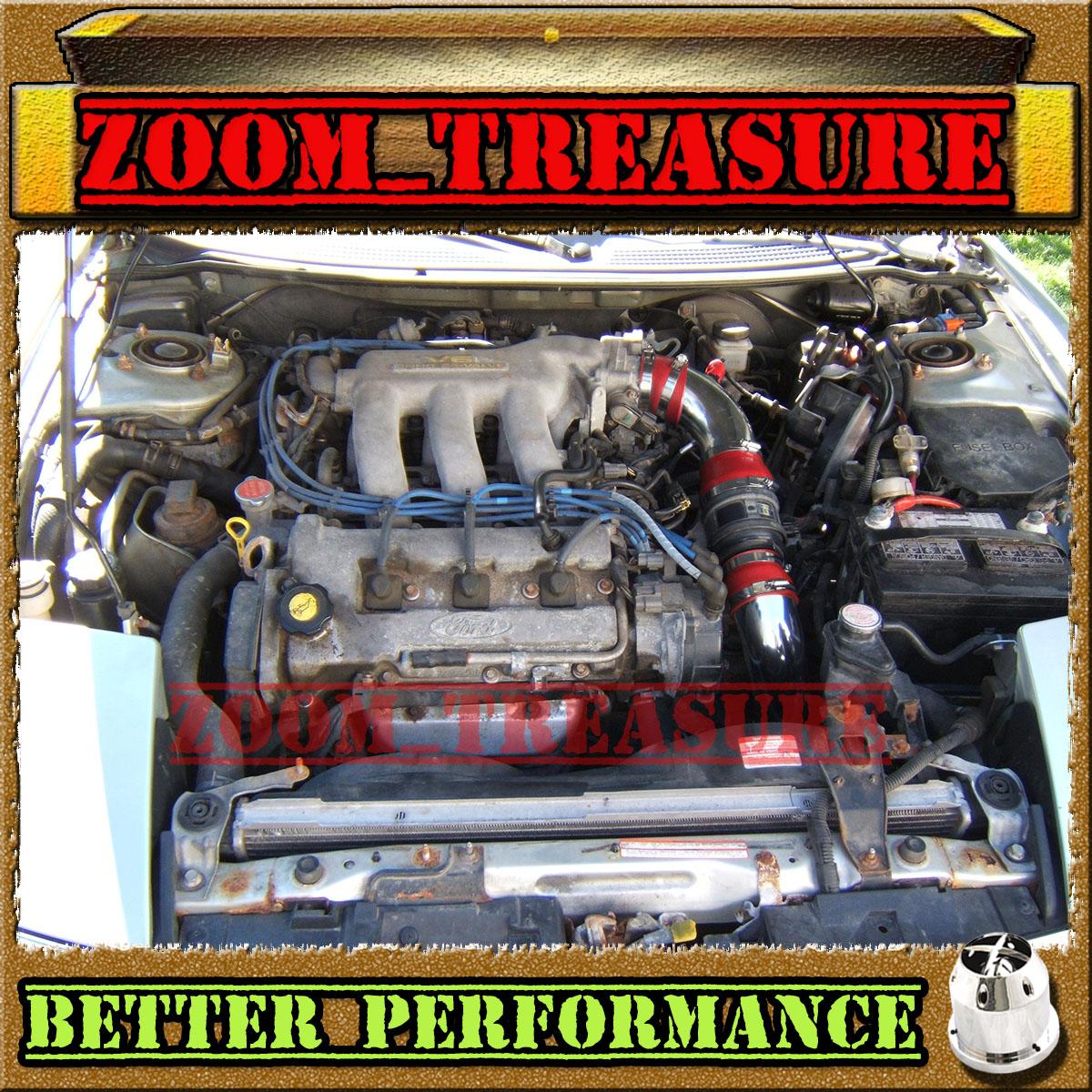 RED 93 94 95 96 97 FORD PROBE GT//MAZDA MX6//626 2.5 2.5L V6 COLD AIR INTAKE KIT