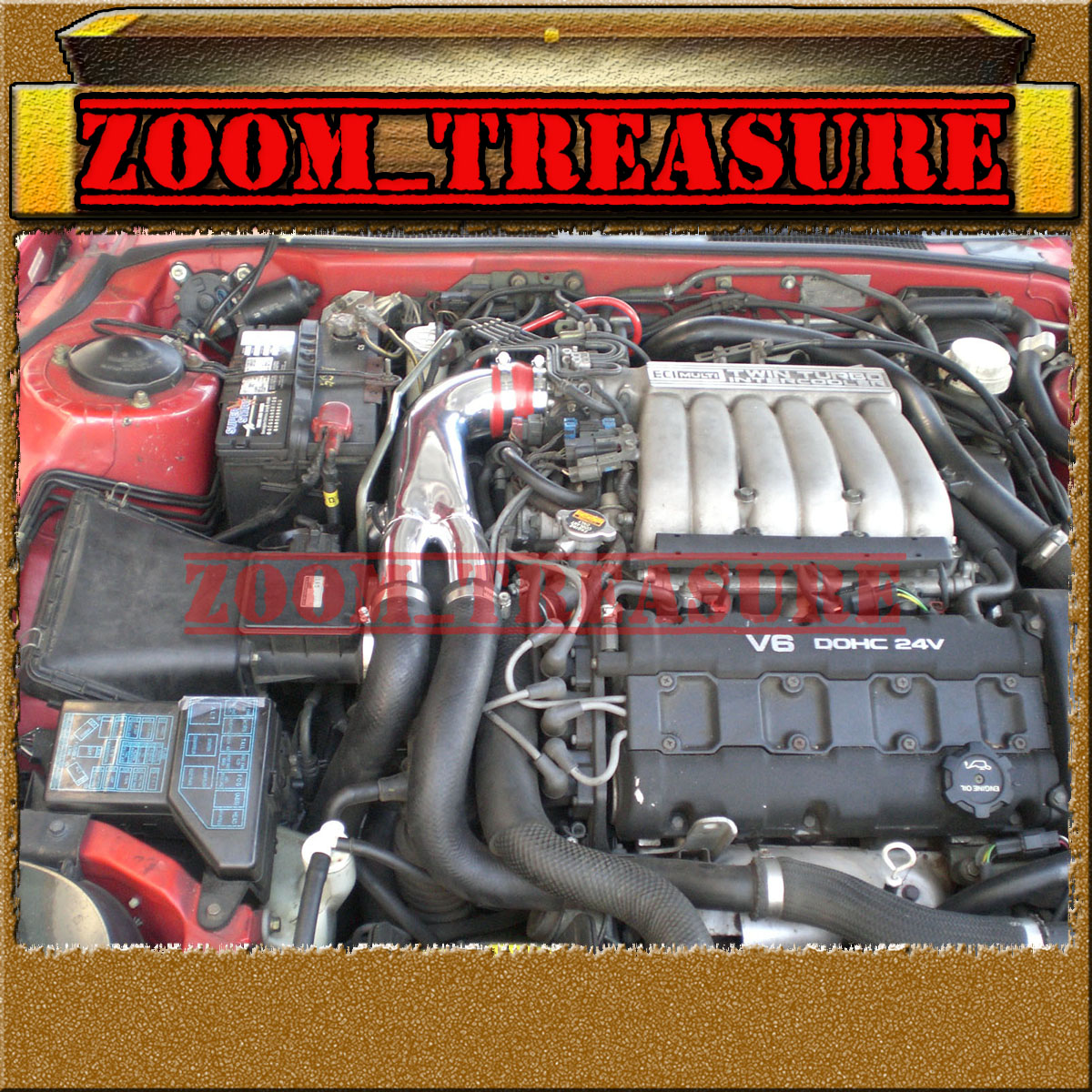91-99 MitsubishI 3000GT//Dodge Stealth 3.0L Turbo Y Air Intake+K/&N